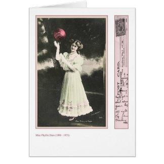 Actress Phyllis Dare Greeting Card