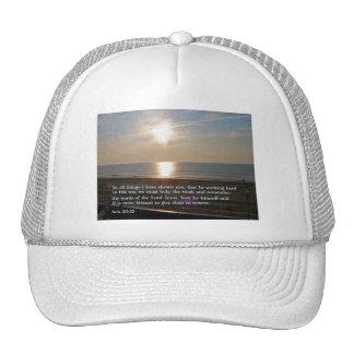 Acts 20:35  Sunrise Trucker Hat