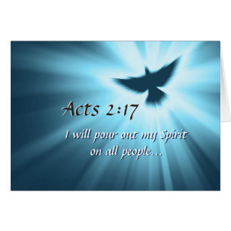 Acts 2:17 I will pour out My Spirit, Bible Verse Card