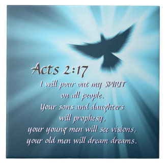 Acts 2:17 I will pour out My Spirit, Bible Verse Tile