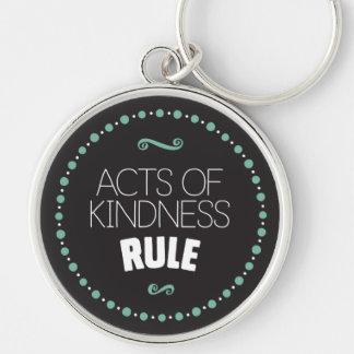 Acts of Kindness Rule – Black Keychain