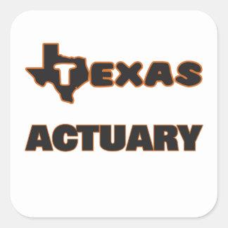 Actuaire du Texas Sticker Carré