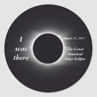 Actual 2017 Solar Eclipse Image Classic Round Sticker