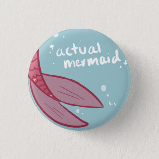 Actual Mermaid Button - Pink