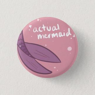 Actual Mermaid Button - Purple
