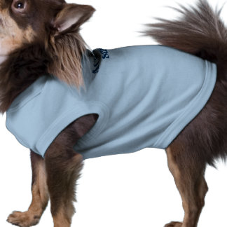Actual Size Dog, Blue Shirt