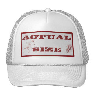 Actual Size Hat