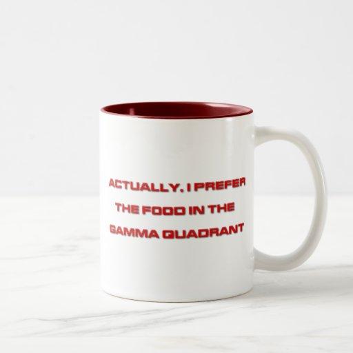 Actually, I Prefer The Food In The Gamma Quadrant Mug