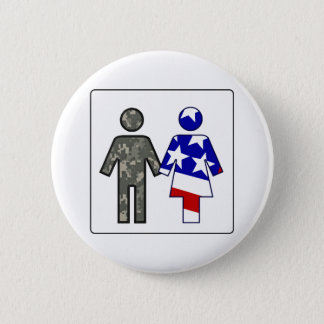 ACU Boy/ Patriotic Girl 2 Inch Round Button