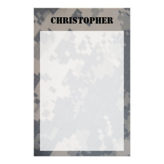 ACU Camo Personalized Stationary Stationery Design