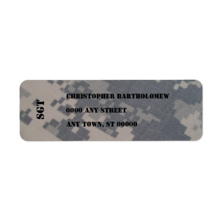 ACU Camo return address Return Address Label