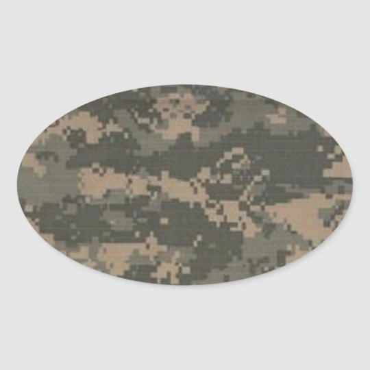 ACU Digital Camo Camouflage Oval Sticker