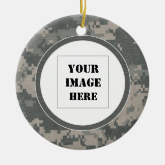 ACU Digital Camouflage Custom Photo Ornament