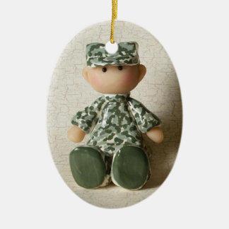ACU Soldier Ceramic Ornament