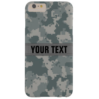 ACU Style Gray Camo #2 Personalized Barely There iPhone 6 Plus Case