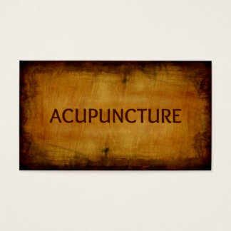 Acupuncture Antique Brushed Business Card