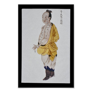 Acupuncture Small Intestine Meridian Hand Taiyang Poster