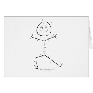 Acupuncture sticky card