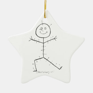 Acupuncture sticky ceramic ornament