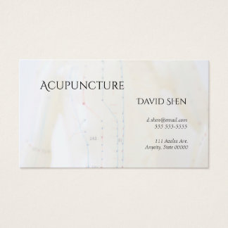 Acupuncture torso and arms business card