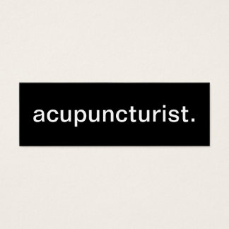 Acupuncturist Business Card
