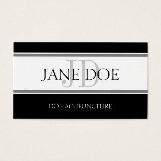 Acupuncturist Stripe W/W Business Card