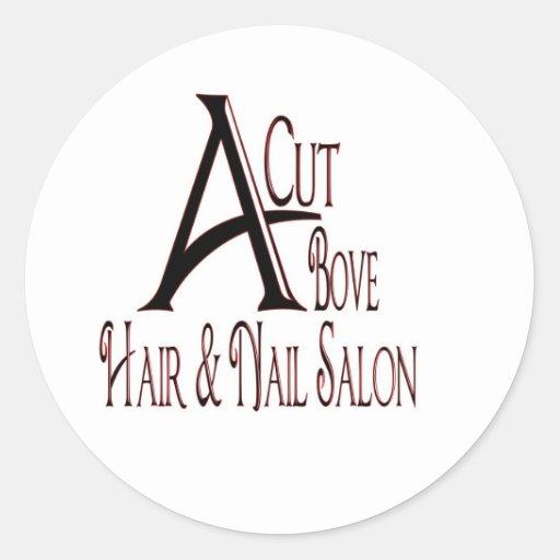 Acut Above Hair Salon Round Sticker