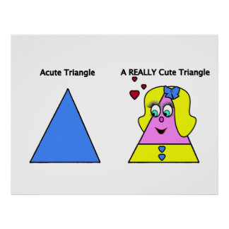 Acute Triangle A Really Cute Triangle Poster