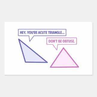Acute Triangle Obtuse Angle Sticker