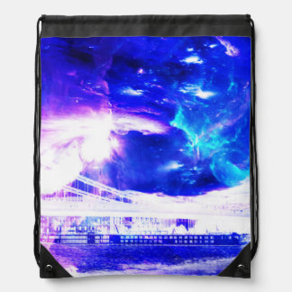 Ad Amorem Amisi Amethyst Sapphire Budapest Dreams Drawstring Bag