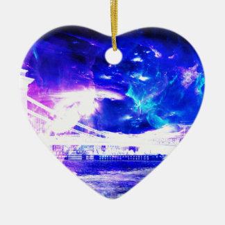 Ad Amorem Amisi Amethyst Sapphire Budapest Sapphir Ceramic Heart Ornament