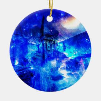 Ad Amorem Amisi Castle of Glass Ceramic Ornament
