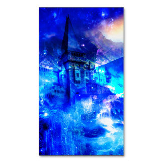 Ad Amorem Amisi Castle of Glass Magnetic Business Card