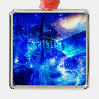 Ad Amorem Amisi Castle of Glass Metal Ornament