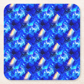 Ad Amorem Amisi Castle of Glass Square Paper Coaster