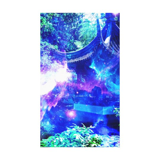 Ad Amorem Amisi Srenity Garden Canvas Print