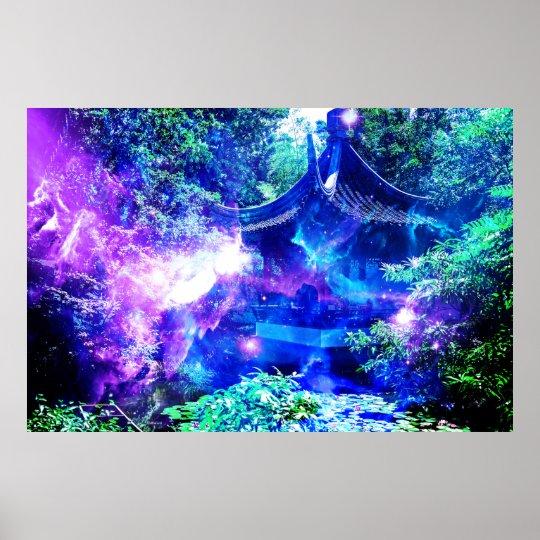 Ad Amorem Amisi Srenity Garden Poster