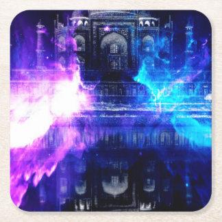 Ad Amorem Amisi Taj Mahal Dreams Square Paper Coaster