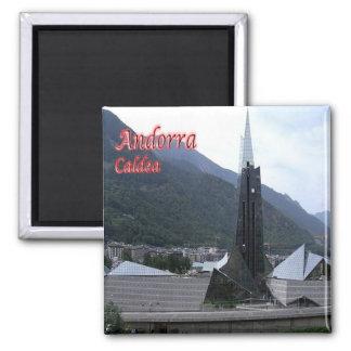 AD - Andorra - Chaldean - View of Balneario Square Magnet