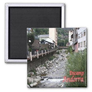 AD - Andorra - Encamp - River Valira Square Magnet