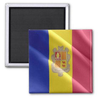 AD - Andorra - Flag waving Square Magnet