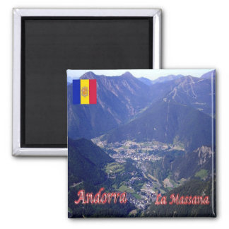 AD - Andorra - La Massana Square Magnet