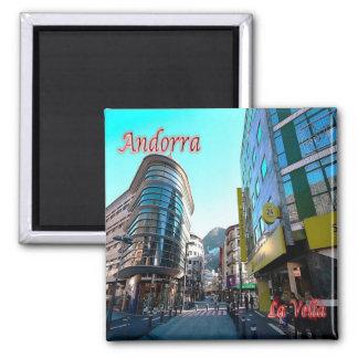 AD - Andorra - La Vella - Center Square Magnet