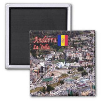 AD - Andorra - La Vella - Panorama Square Magnet