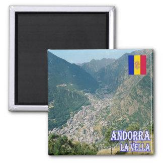 AD - Andorra - La Vella Square Magnet