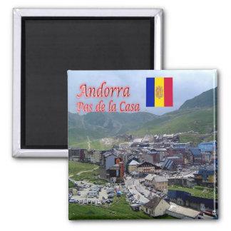 AD - Andorra - Panorama Square Magnet