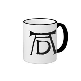 AD Durer Monogram Ringer Coffee Mug