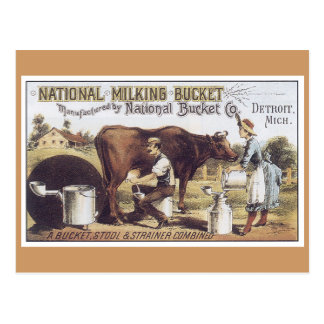 Ad Label National Bucket Victorian Postcard