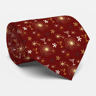 Ad Man Martini Foulard Burgundy Two-sided Tie