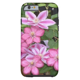 AD- Pink Clematis Flowers Photography Tough iPhone 6 Case